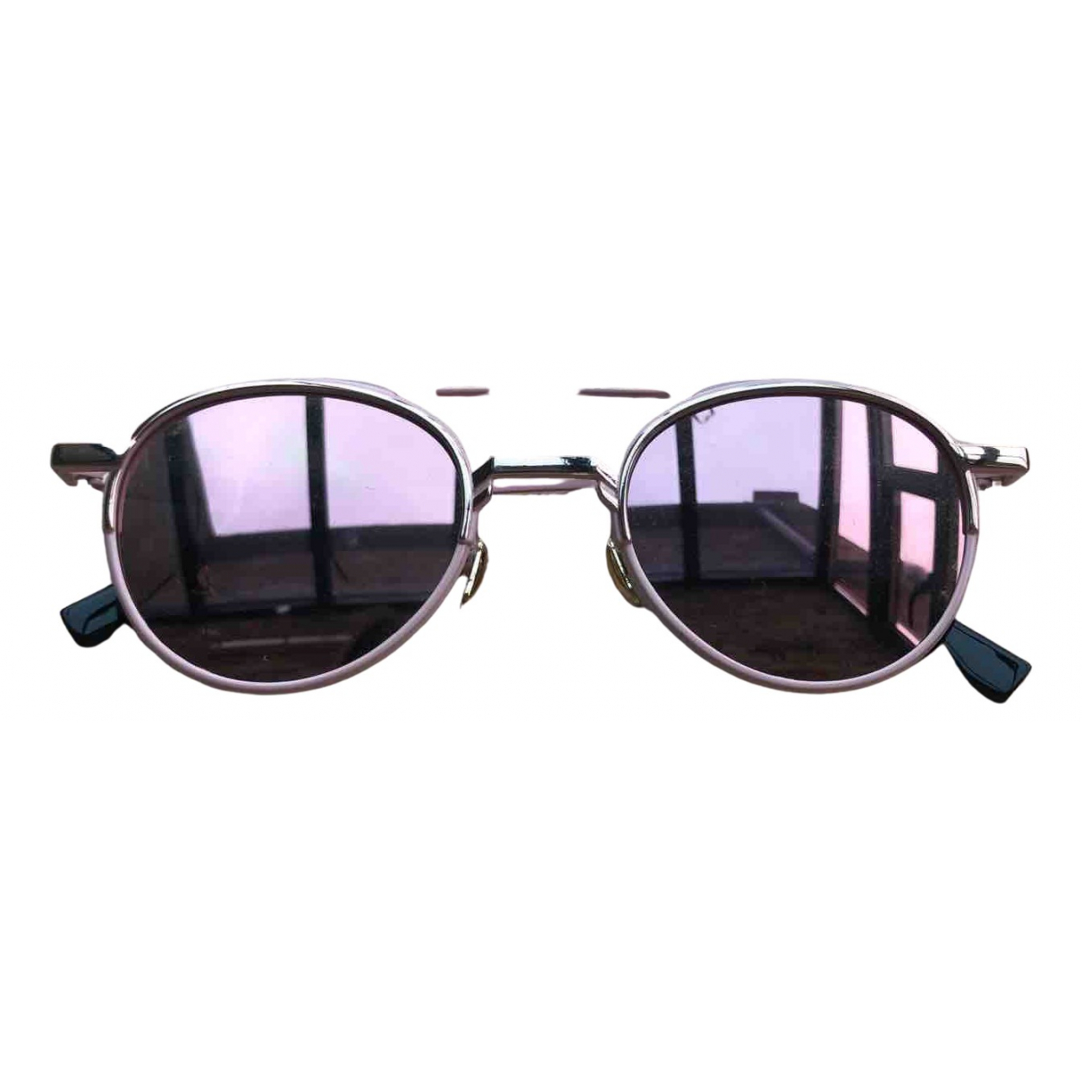 Non Signé / Unsigned N Pink Metal Sunglasses for Women N
