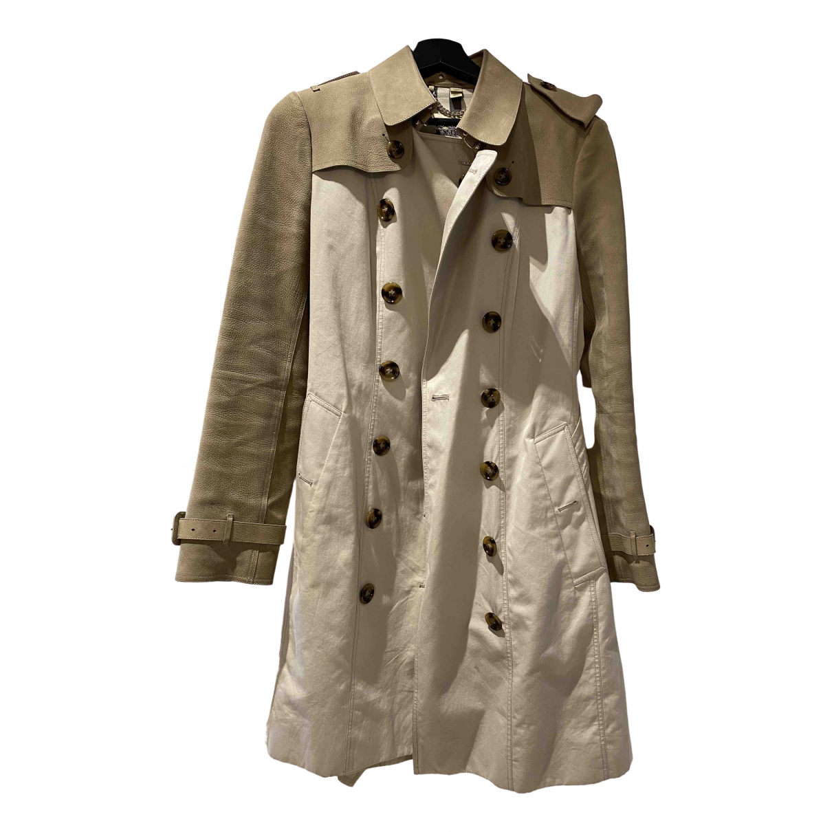 Burberry \N Trench in  Beige Leder