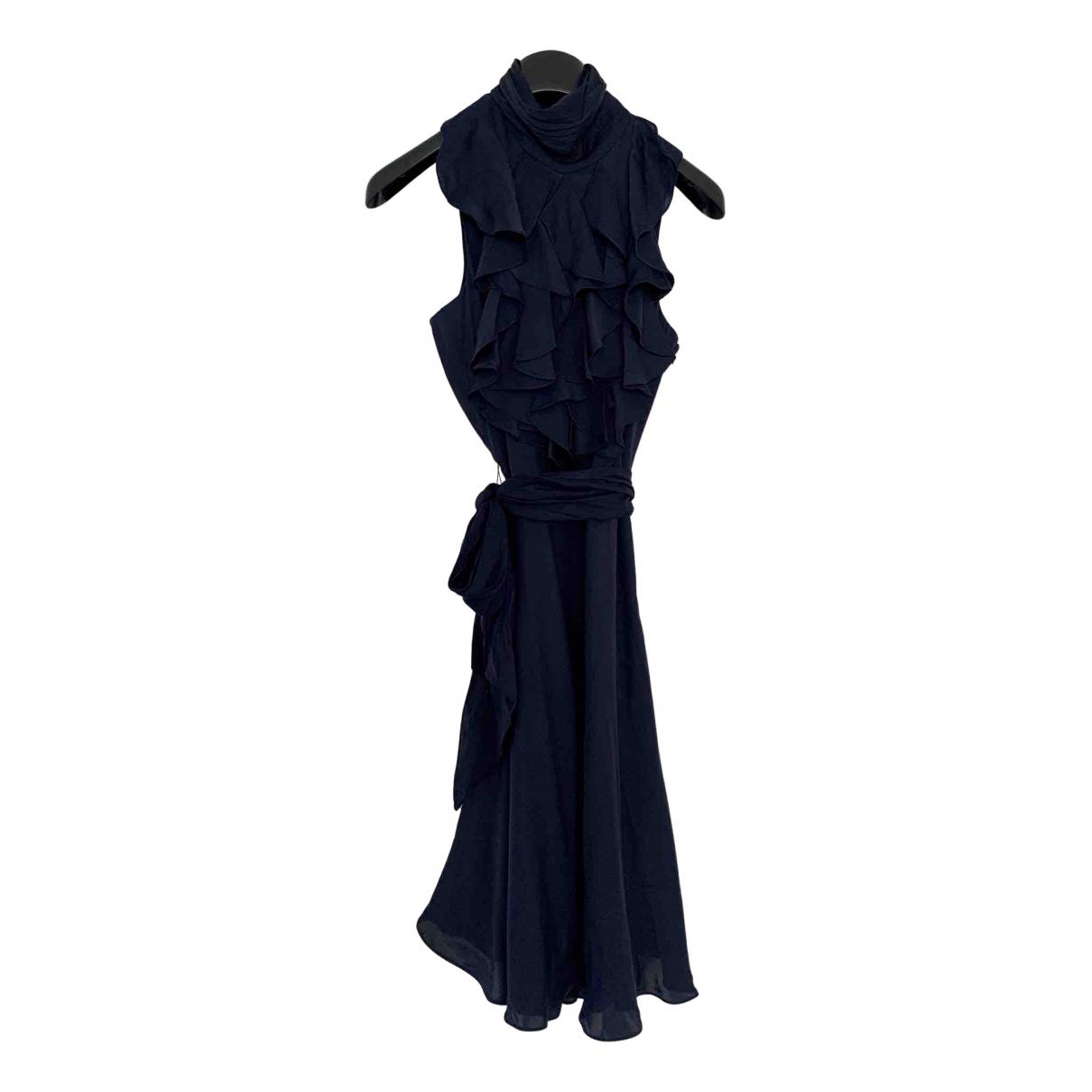 Lauren Ralph Lauren N Navy Silk dress for Women 10 UK