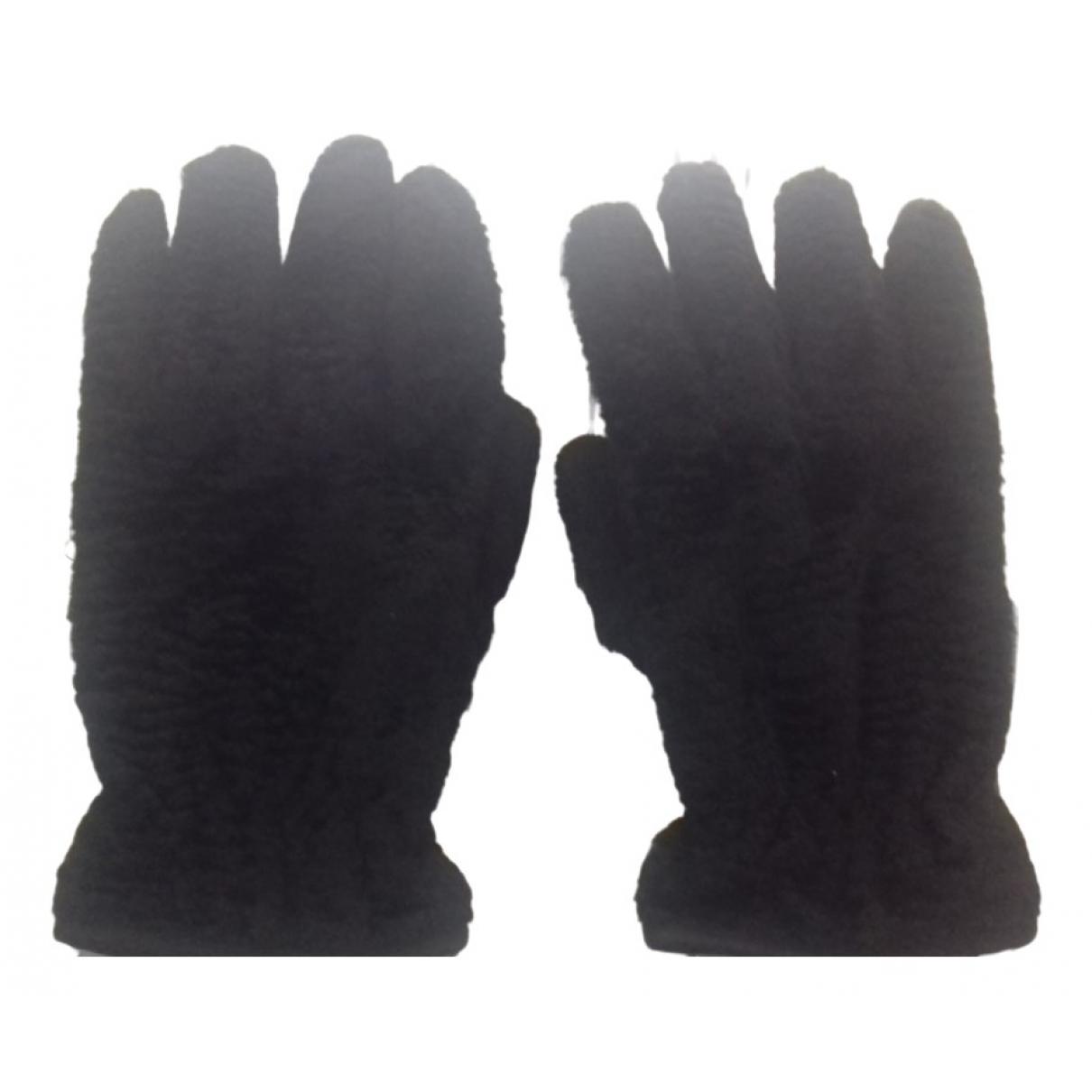 Fendi \N Black Velvet Gloves for Men L International
