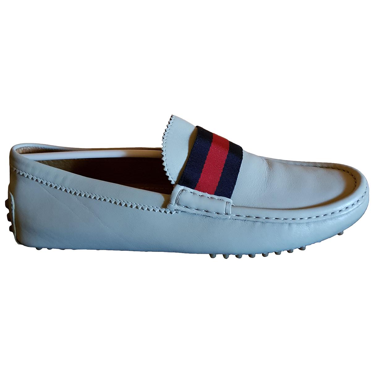 Gucci \N Beige Leather Flats for Men 7.5 UK