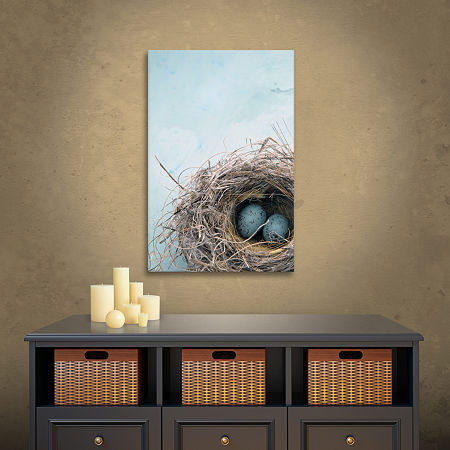 Blue Nest Gallery Wrapped Canvas Wall Art, One Size , Blue