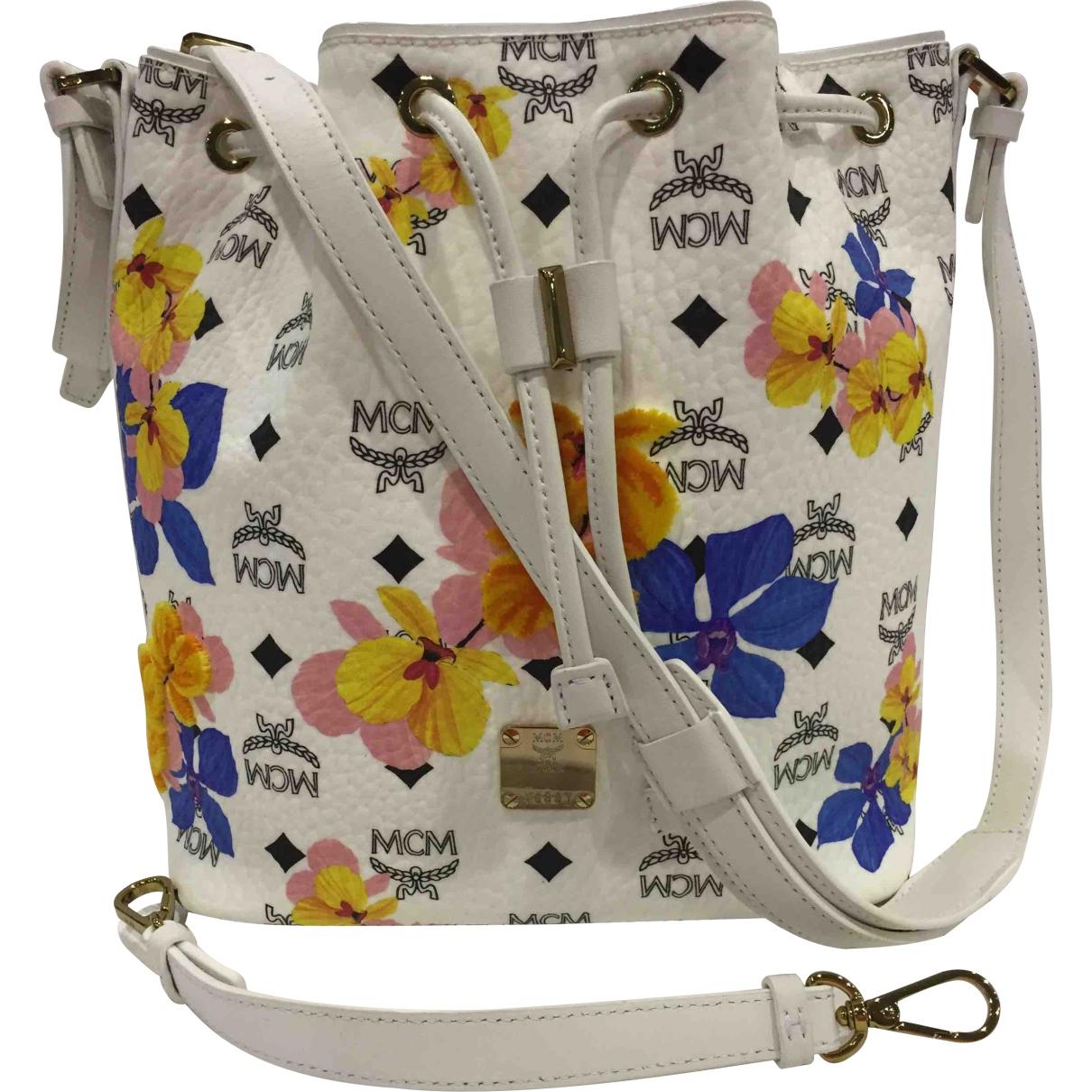 Mcm \N Handtasche in  Weiss Leder
