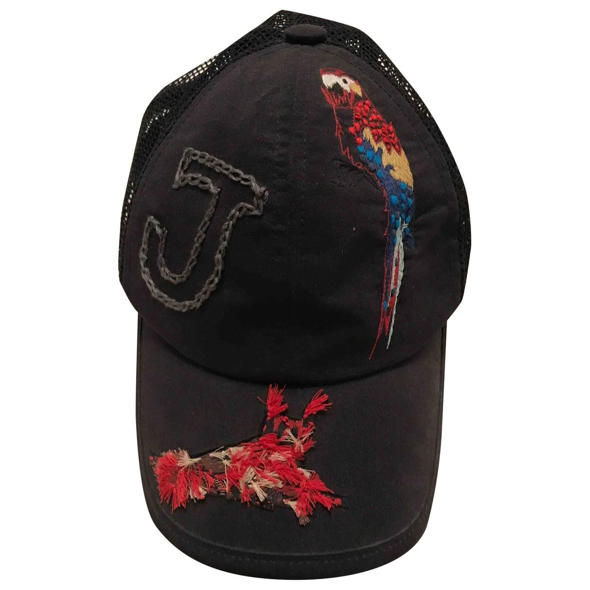 Lanvin - Chapeau & Bonnets   pour homme en coton - noir