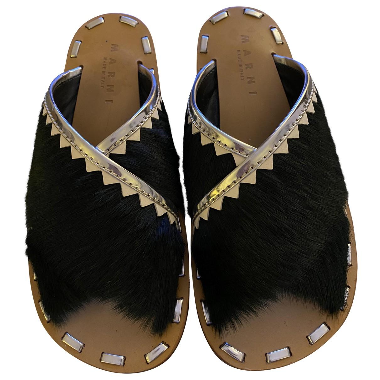 Marni \N Green Velvet Sandals for Women 39 EU