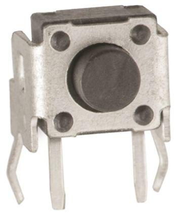Wurth Elektronik White Tactile Switch, Single Pole Single Throw (SPST) 50 mA @ 12 V dc 0.6mm Through Hole