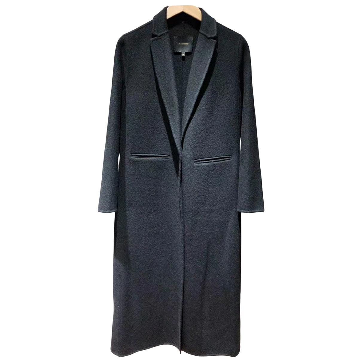 Maje Fall Winter 2019 Black Wool coat for Women 36 FR