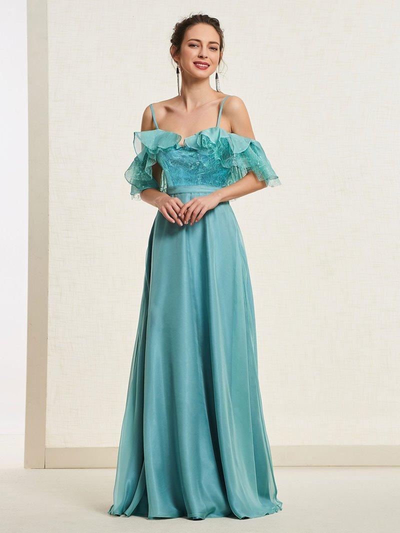 Ericdress A-Line Lace Spaghetti Straps Prom Dress