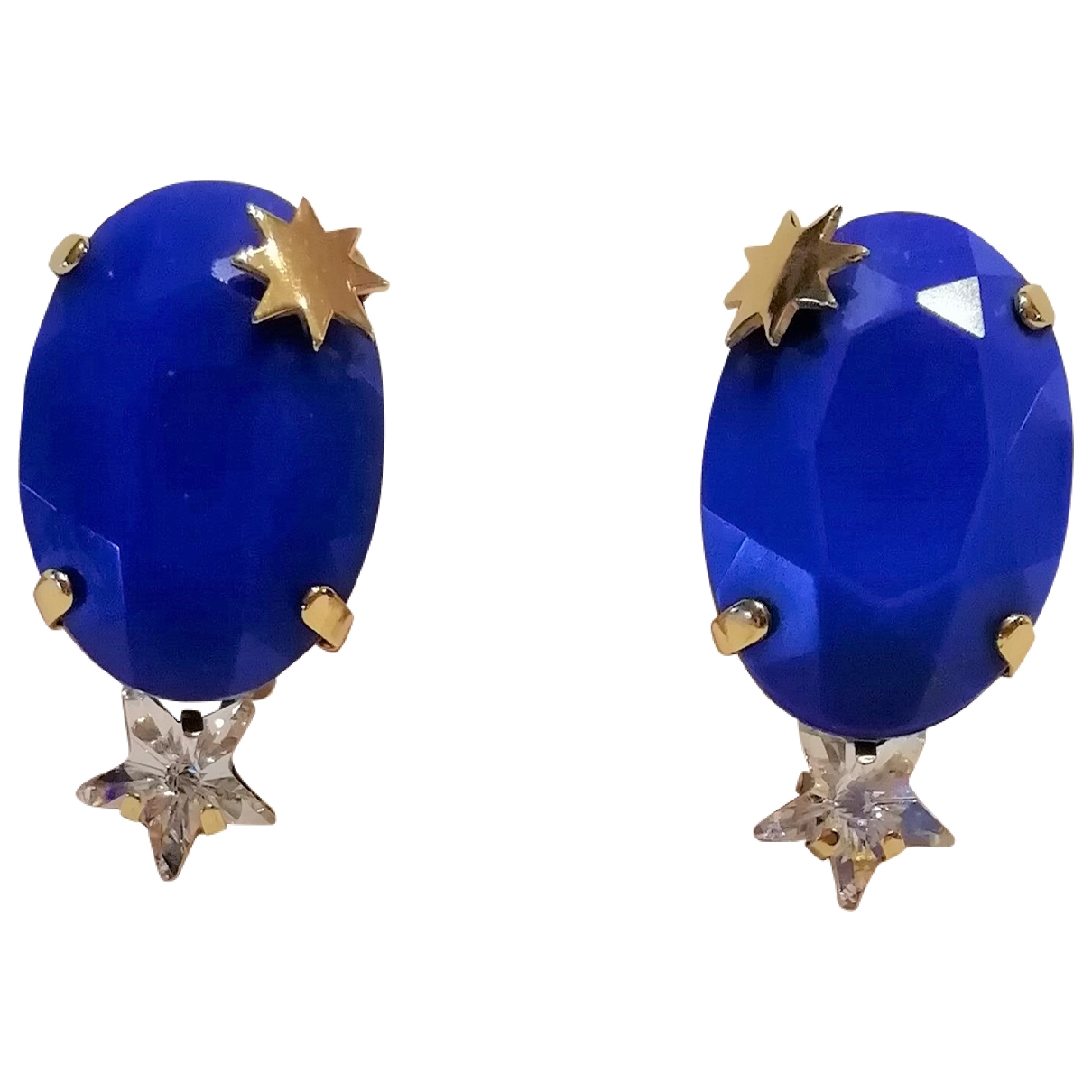 Reminiscence \N OhrRing in  Blau Kristall