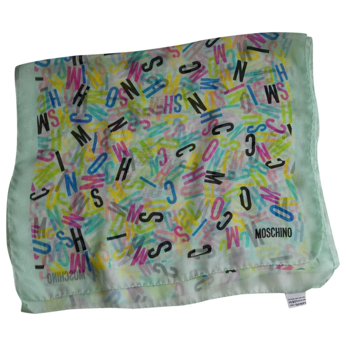 Moschino - Foulard   pour femme en soie - multicolore