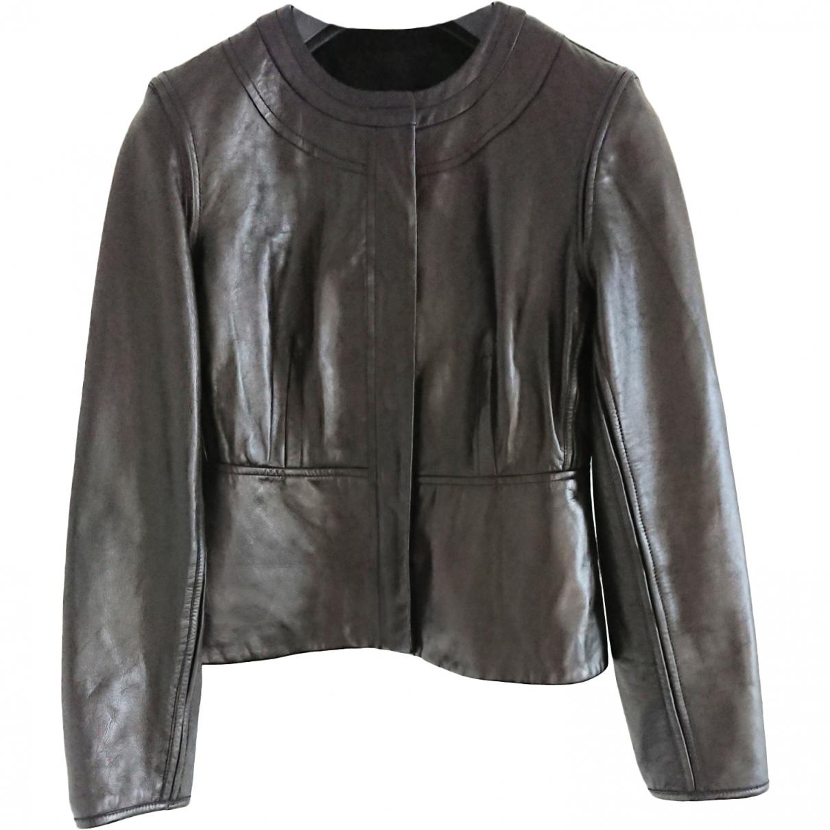 Diane Von Furstenberg \N Brown Leather jacket for Women 4 US