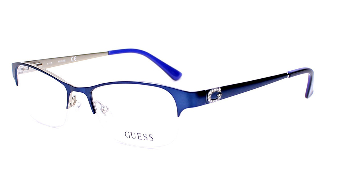 Guess GU 2567 091 Women's Glasses Blue Size 51 - Free Lenses - HSA/FSA Insurance - Blue Light Block Available