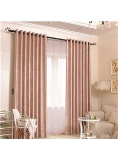 Modern Style Rose Gold Color Custom Blackout Decoration 2 Panels Curtains for Living Room