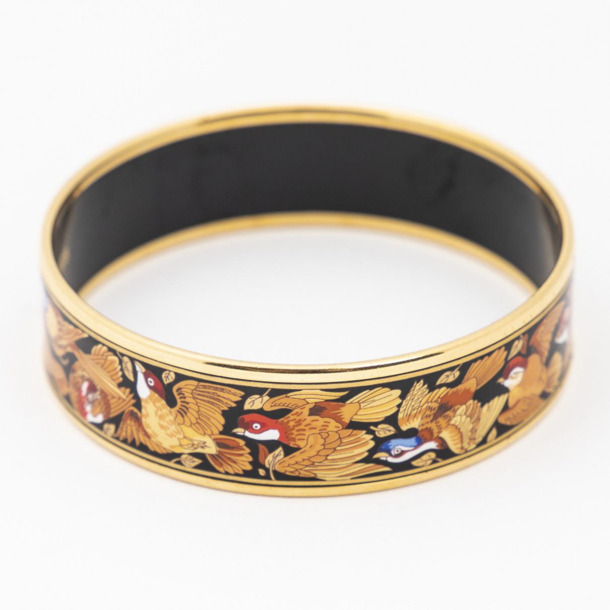 Hermès \N Black Yellow gold bracelet for Women \N