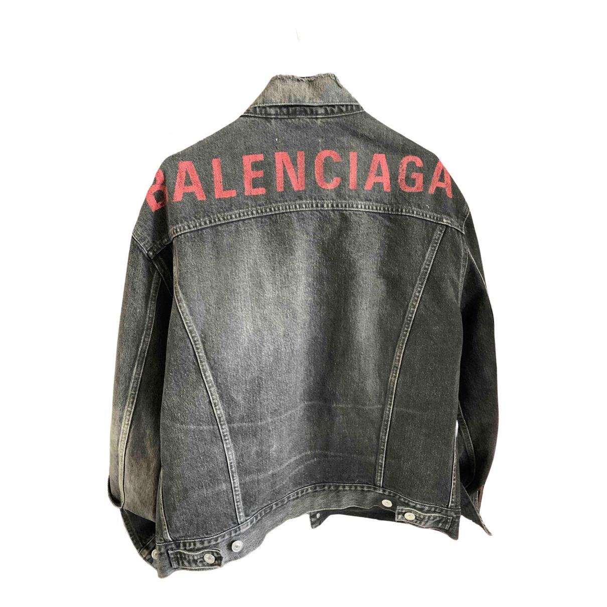 Balenciaga \N Jacke in  Grau Denim - Jeans
