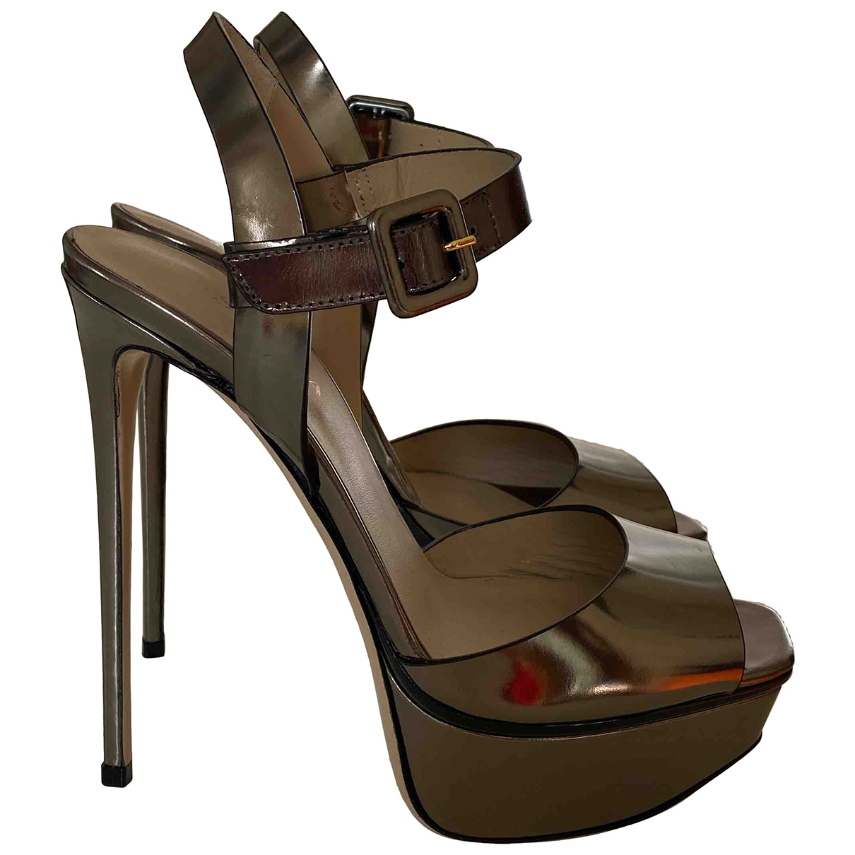 Le Silla \N Silver Leather Sandals for Women 37 EU