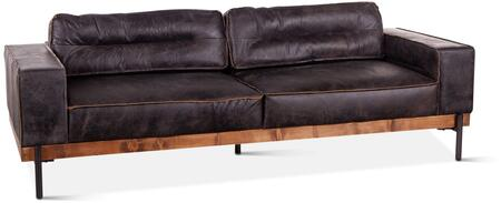 ZWCIAMSFAE Chiavari Collection Sofa with Leather Upholstering in