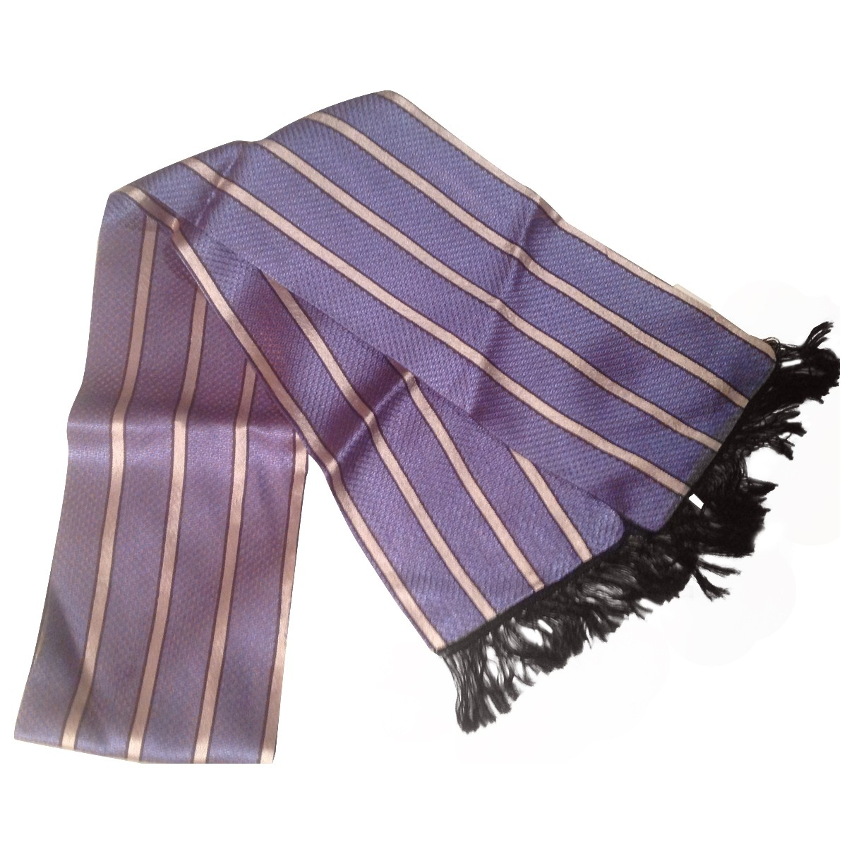 Non Signé / Unsigned \N Blue Silk scarf & pocket squares for Men \N