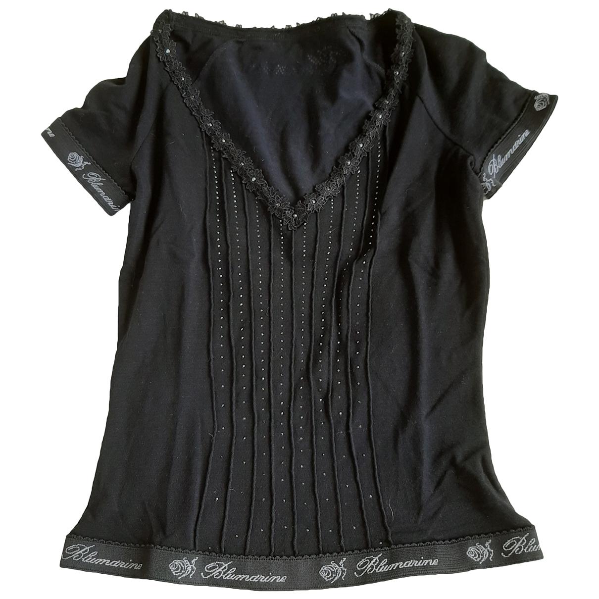 Blumarine \N Pullover in  Schwarz Baumwolle