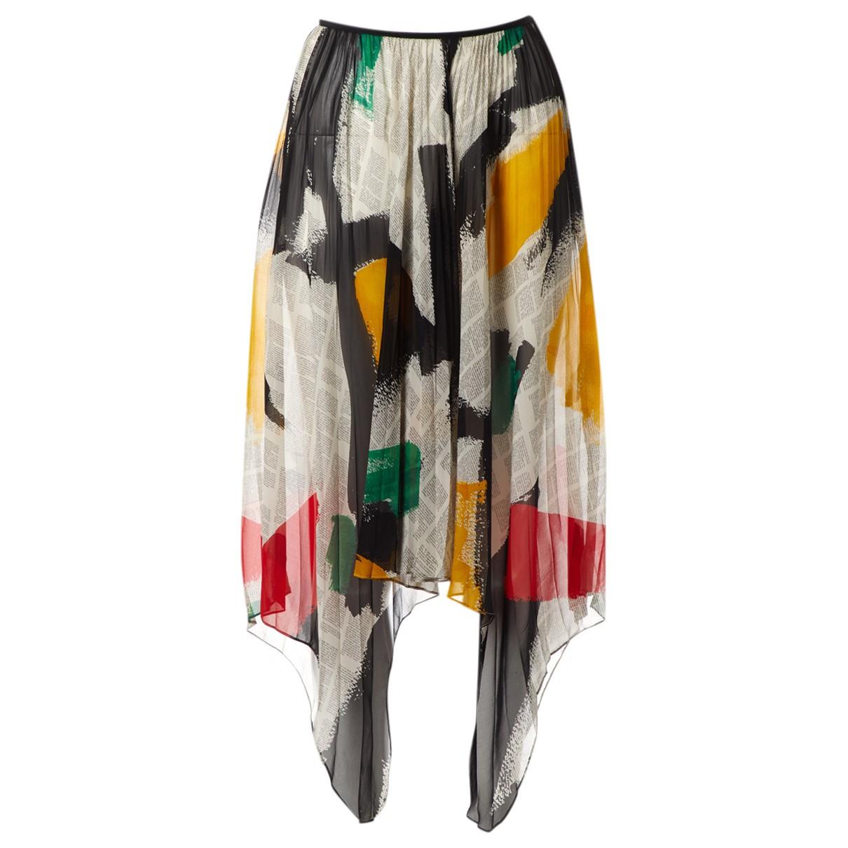 Celine - Jupe   pour femme en soie - multicolore
