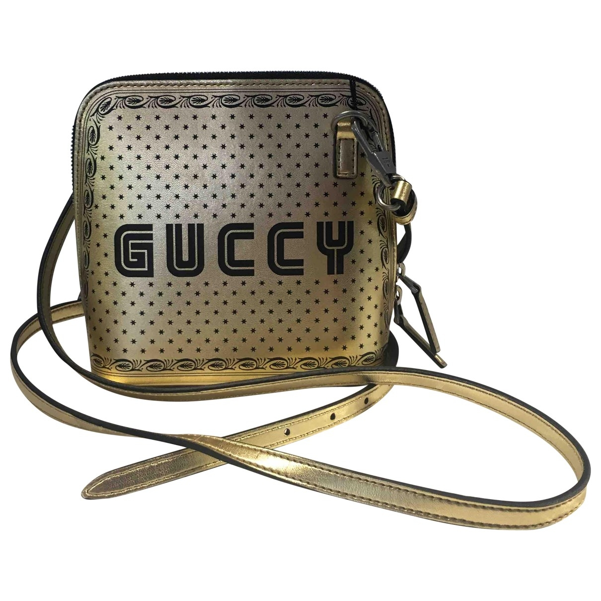 Gucci Guccy minibag Handtasche in  Gold Leder
