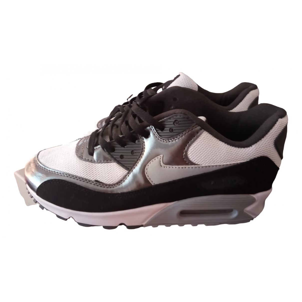 Nike Air Max 90 Sneakers in  Silber Polyester