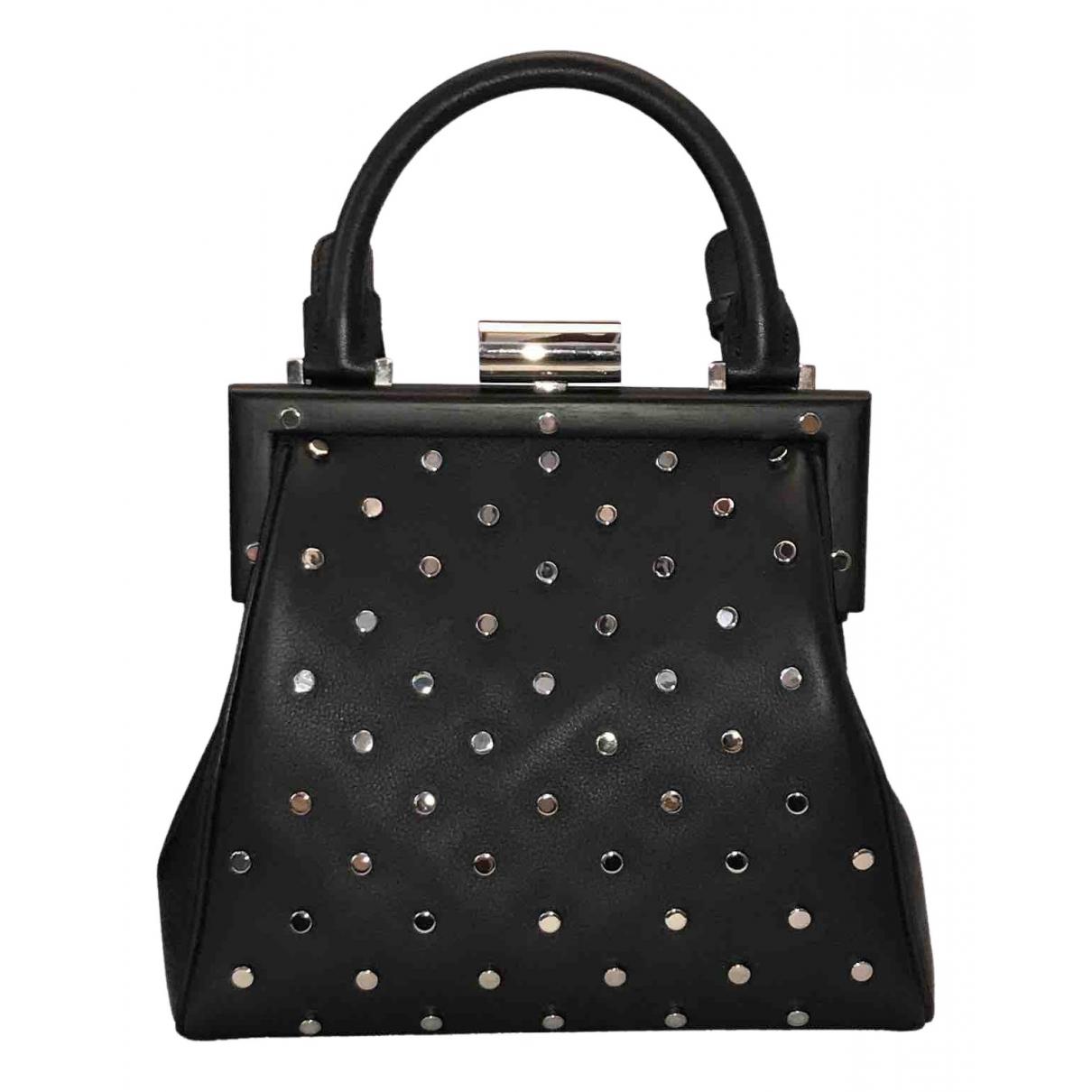 Perrin Paris \N Handtasche in  Schwarz Leder