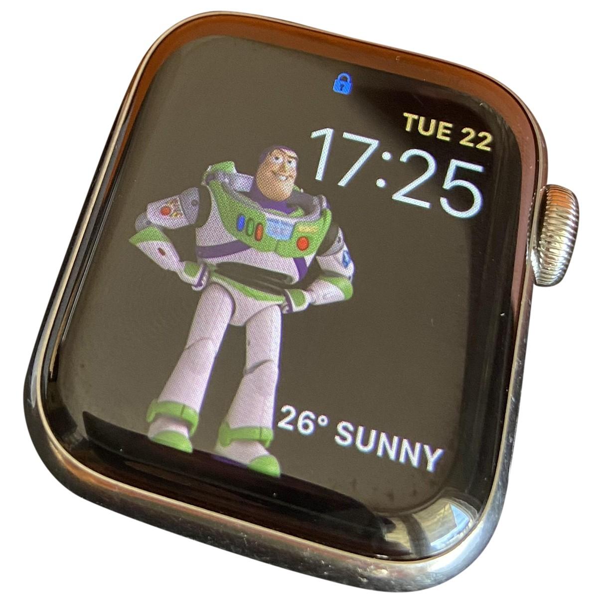 Apple - Montre Apple Watch x Hermes 38mm pour femme en acier - violet