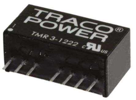 TRACOPOWER TMR 3WIE 3W Isolated DC-DC Converter Through Hole, Voltage in 4.5 → 18 V dc, Voltage out ±15V dc