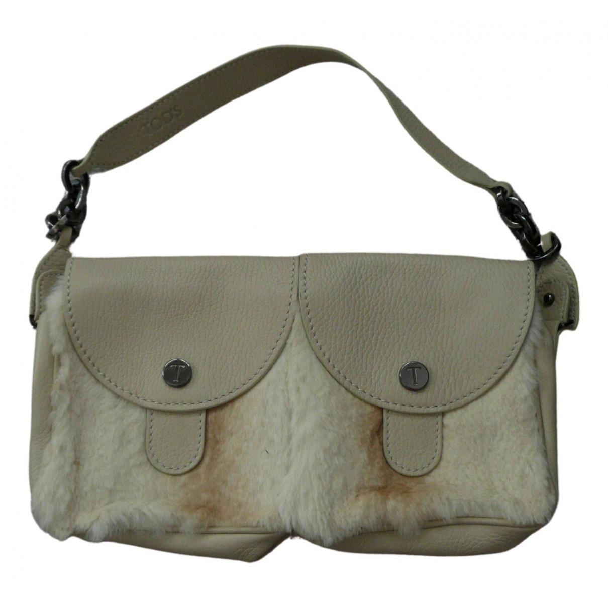 Tod's \N Ecru Leather handbag for Women \N