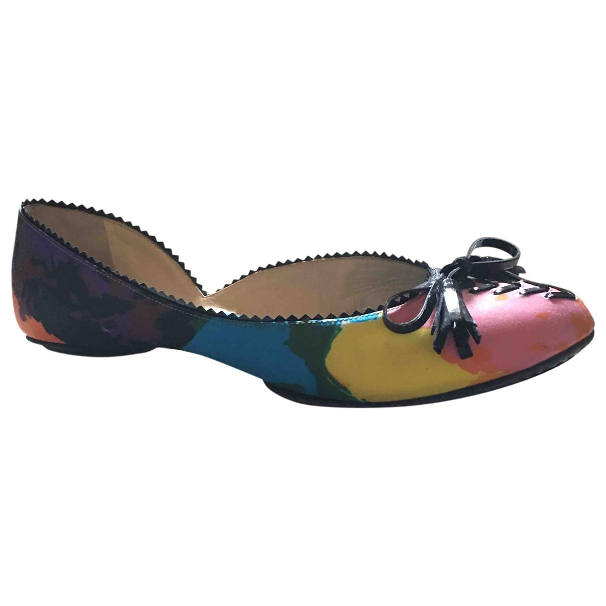 Balenciaga - Ballerines   pour femme en toile - multicolore