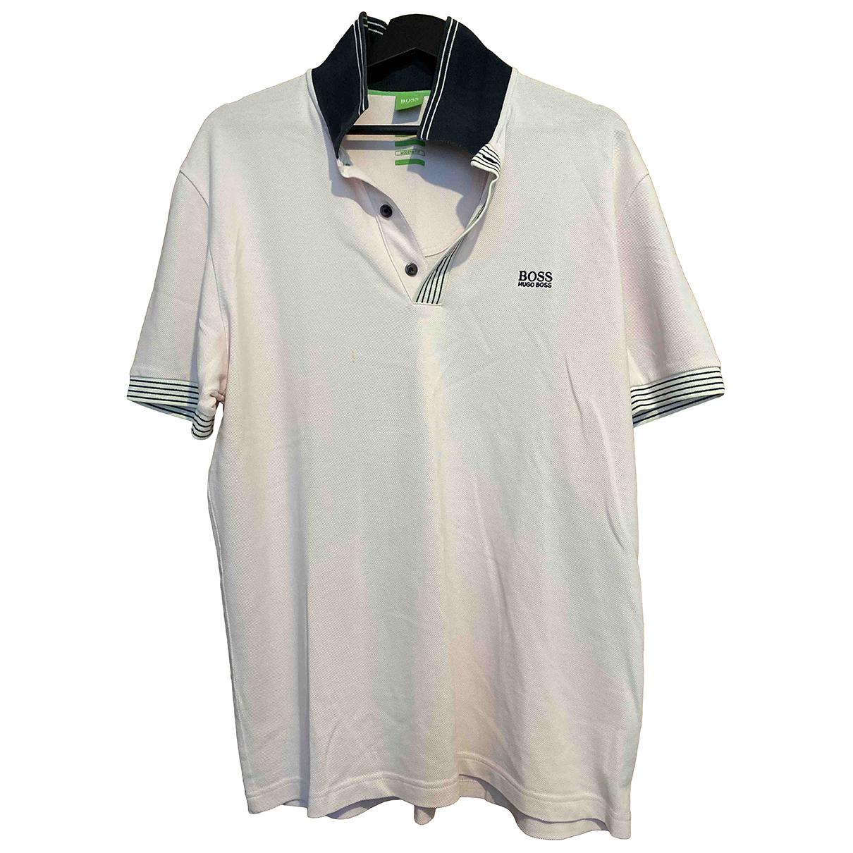 Boss - Polos   pour homme en coton - blanc