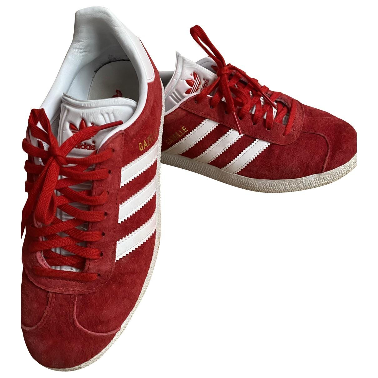 Adidas - Baskets Gazelle pour femme en cuir - rouge