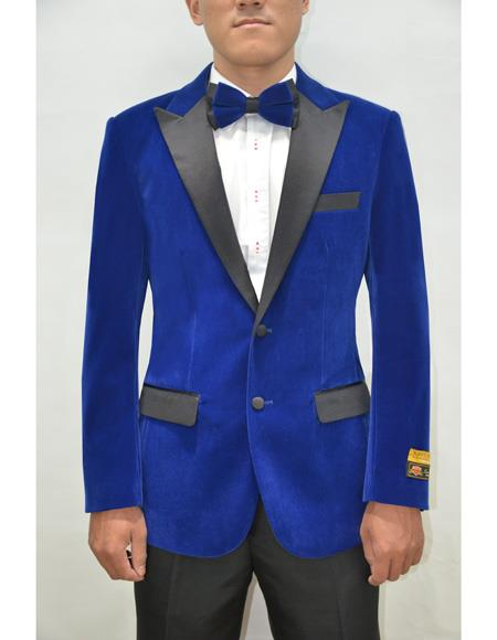 Mens Blazer Royal Blue