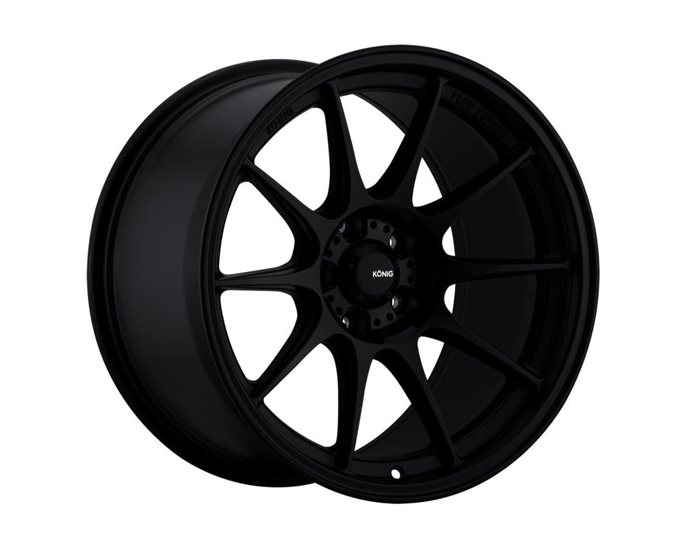 Konig Dekagram Semi-Matte Black Wheel 18x8.5 5x112 43