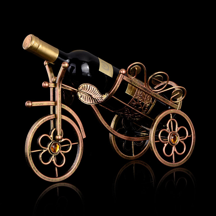 Metal Tricycle Wine Rack Champagne Holder Showing Stand Wine Champagne Rack Home Decor