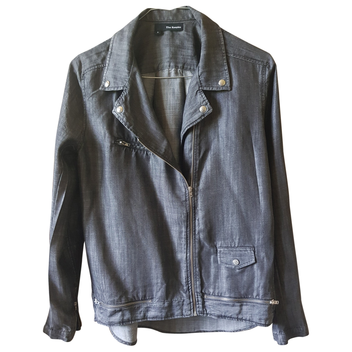 The Kooples \N Grey Leather jacket for Women S International