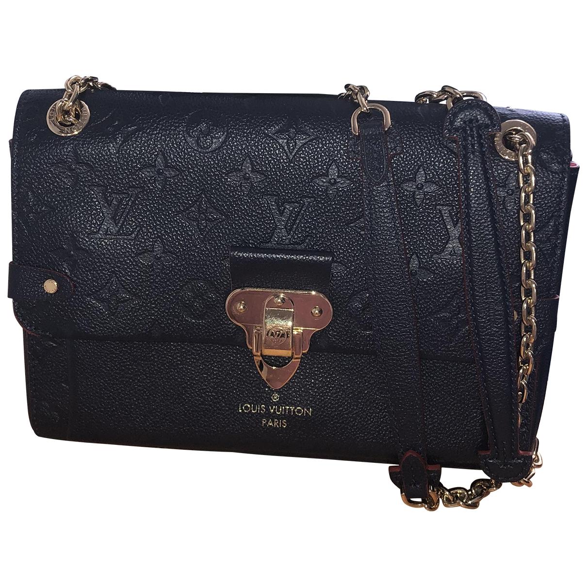 Louis Vuitton Vavin Handtasche in  Blau Leder