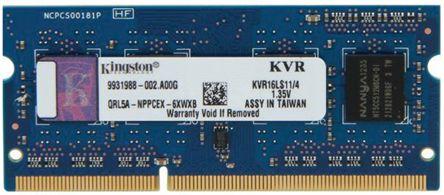 Kingston 4 GB DDR3L RAM 1600MHz SODIMM 1.35 V, 1.5 V