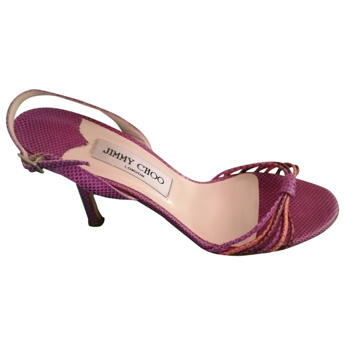 Jimmy Choo - Sandales   pour femme en cuir - violet