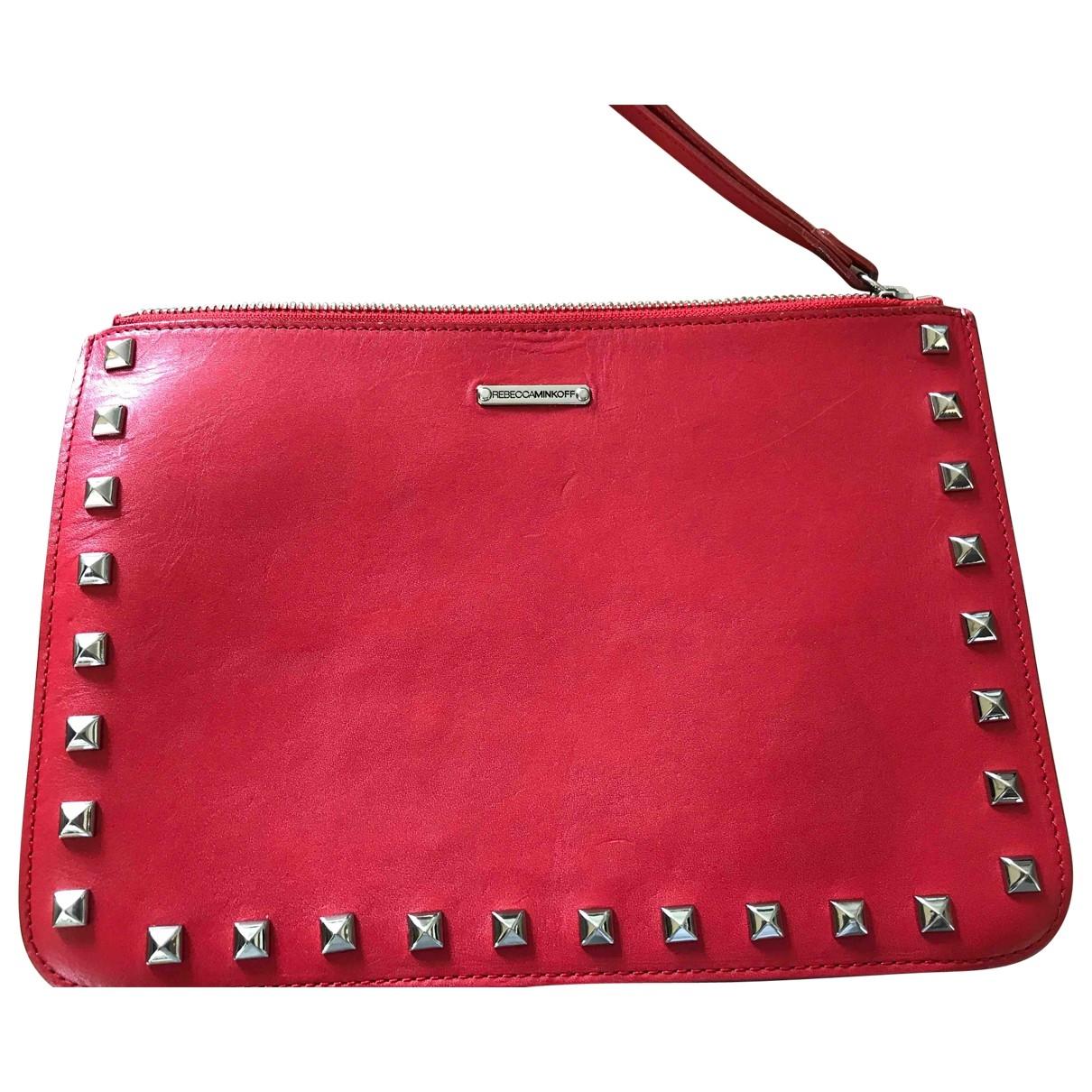 Rebecca Minkoff \N Clutch in  Rot Leder