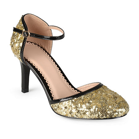 Journee Collection Womens Alison Pumps Spike Heel, 7 Medium, Yellow