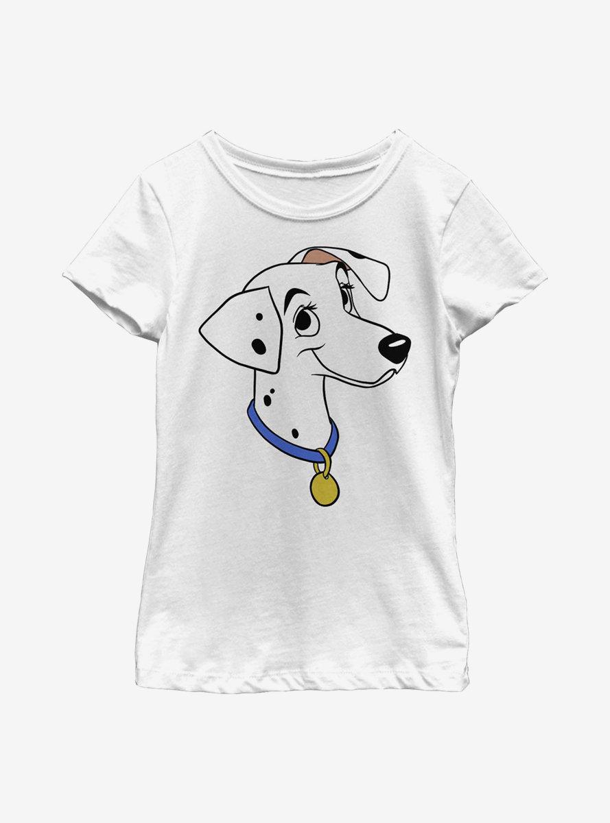 Disney 101 Dalmatians Perdita Big Face Youth Girls T-Shirt