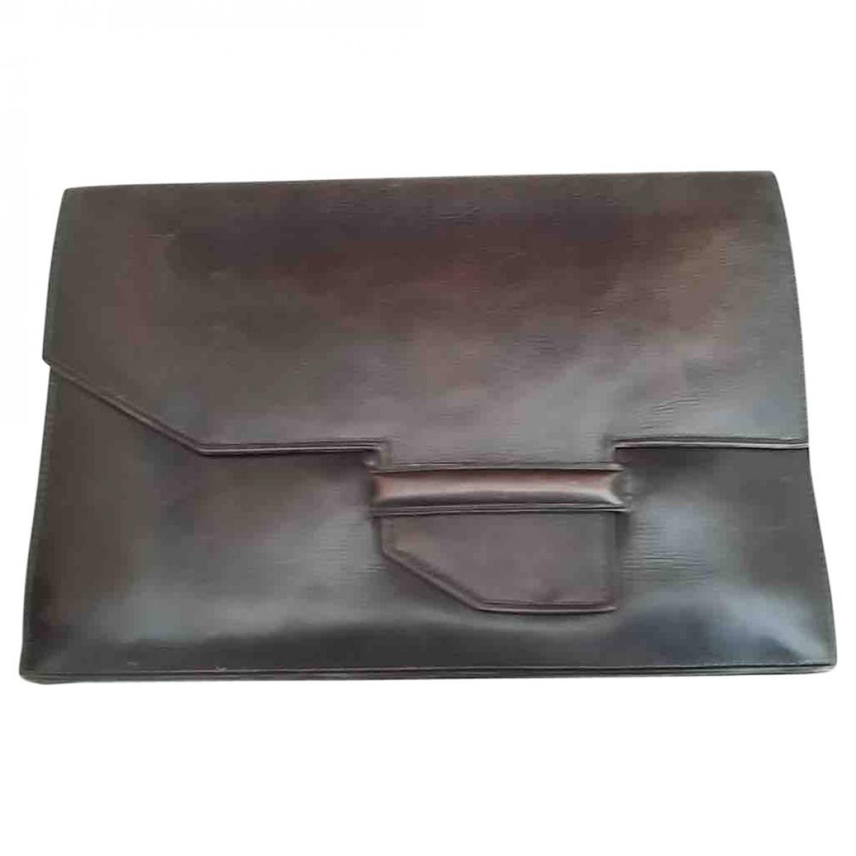 Hermes - Pochette   pour femme en cuir - marron