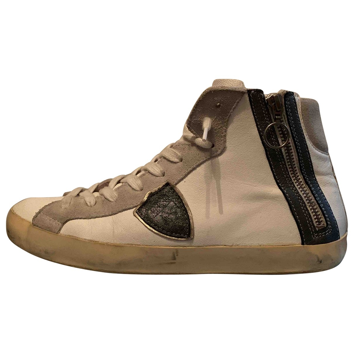Philippe Model \N White Leather Trainers for Men 41 EU
