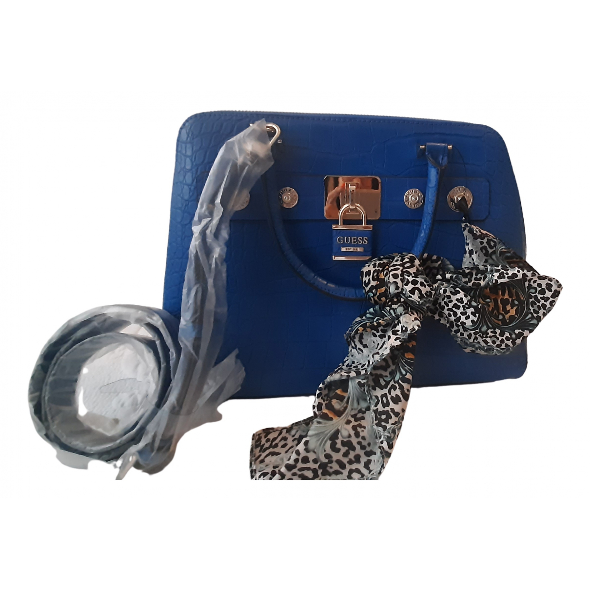 Guess \N Blue Leather handbag for Women \N