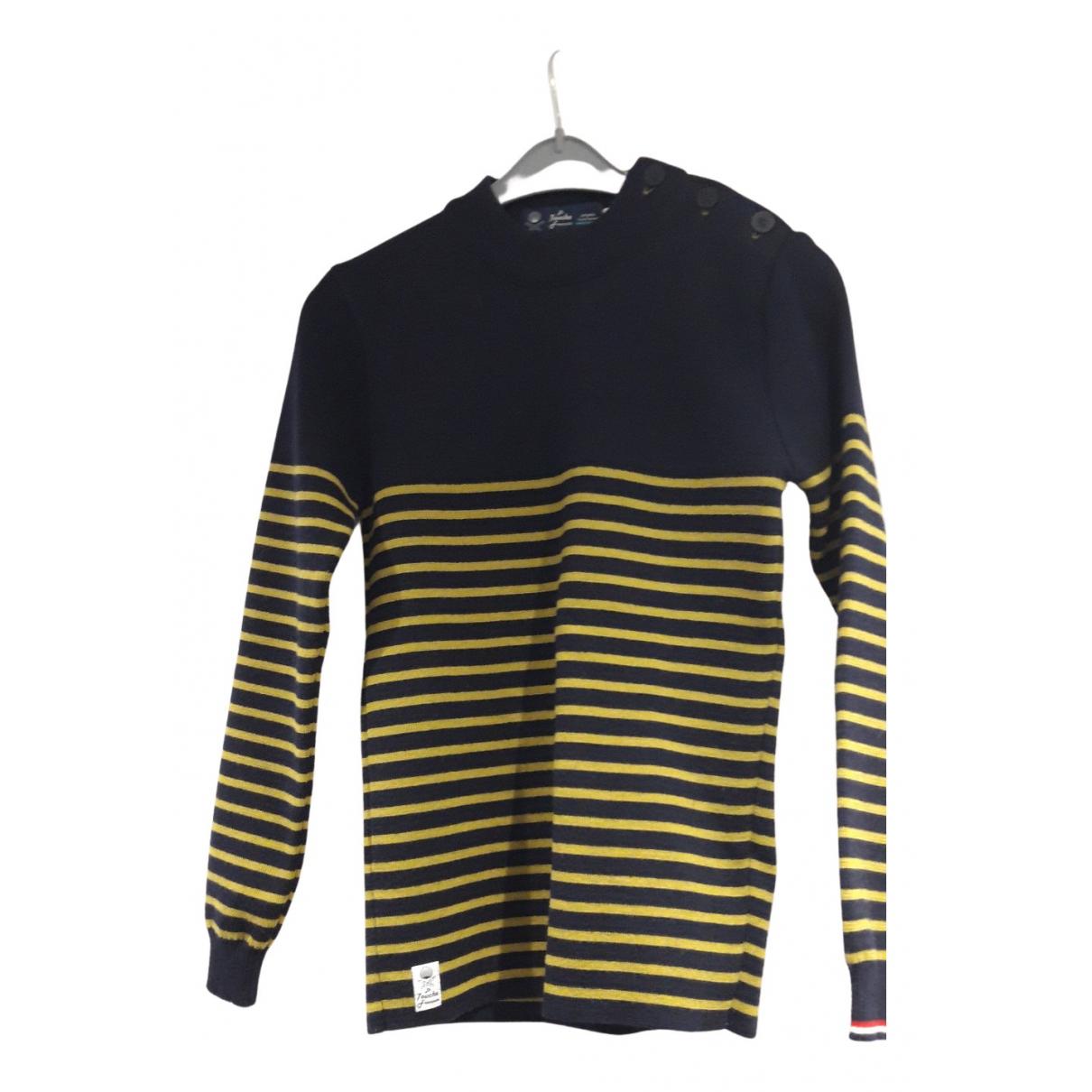 Non Signé / Unsigned N Blue Wool Knitwear & Sweatshirts for Men S International