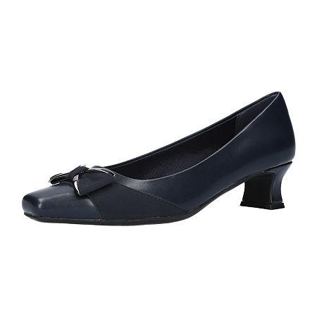 Easy Street Womens Rejoice Pumps Spike Heel, 8 Medium, Blue