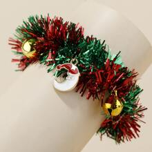 Brazalete con campana de navidad