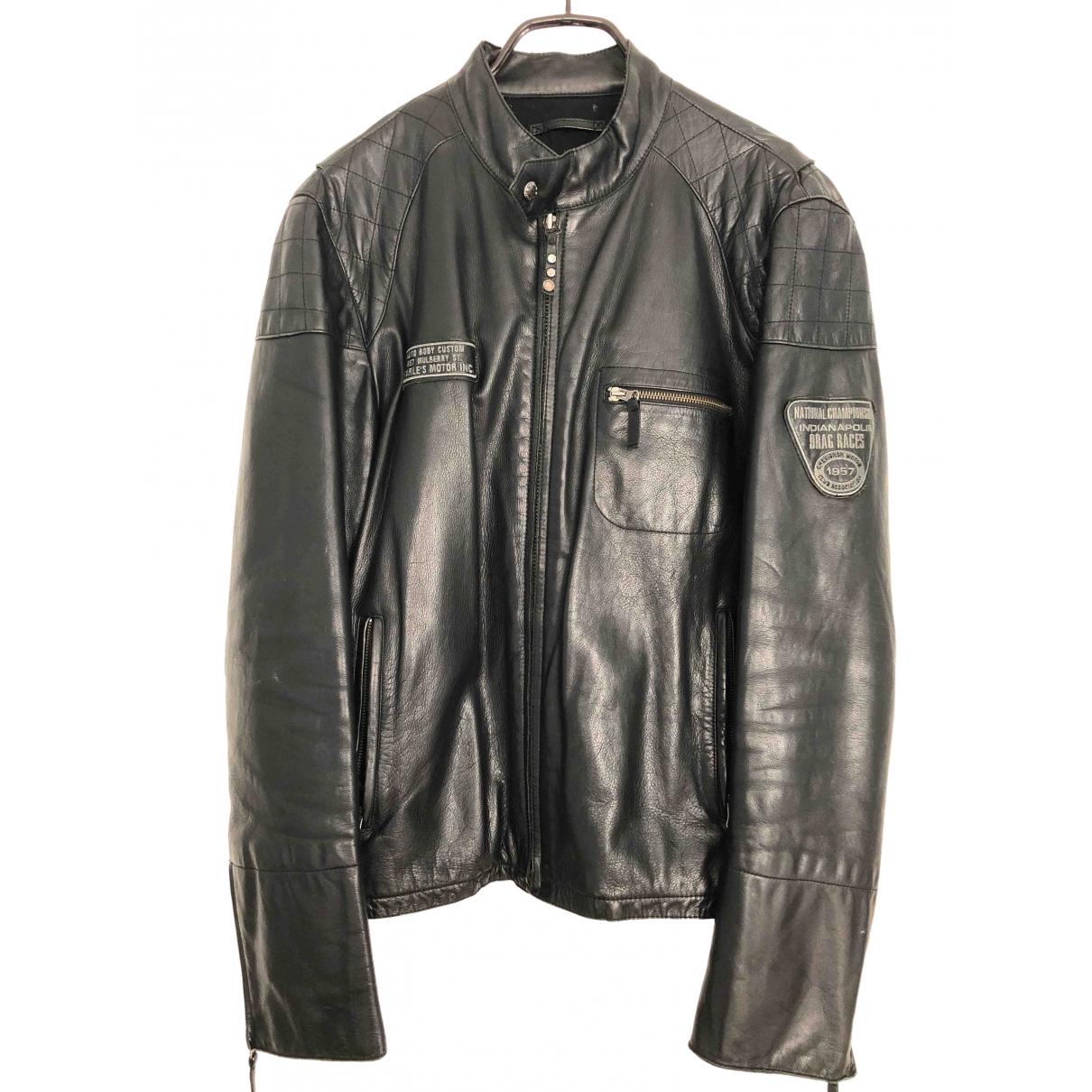 Chevignon - Vestes.Blousons   pour homme en cuir - noir